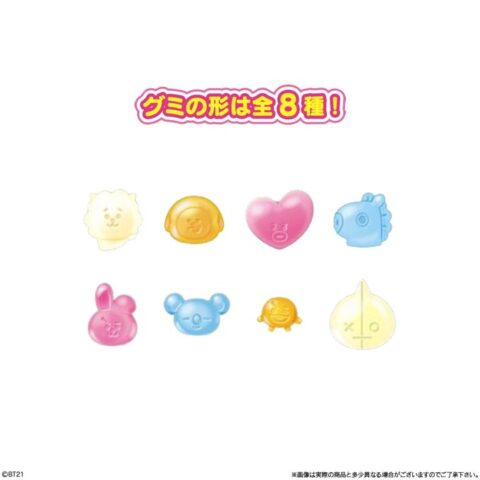 【BT21】イラストかわいいお菓子☆メンバーキャラクターのグミ・おまけ付き